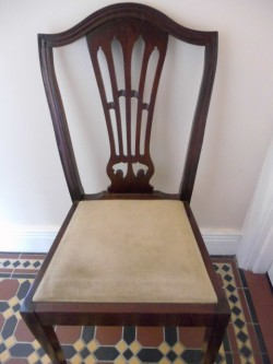 Hepplewhite Style Mahogany Dining Chair,