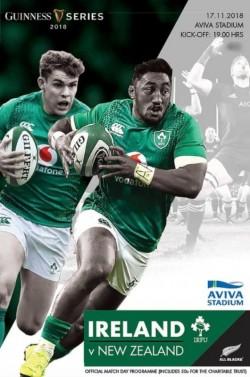 Rugby Match Programme Ireland v New Zealand 2018