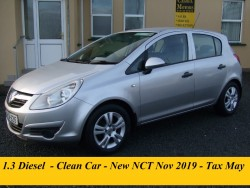 Opel Corsa 1.3cdti - 2008 - CLUB - New NCT - Nov 2019  - Clean Car - Tax May
