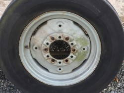 MASSEY FERGUSON TRACTOR FRONT WHEELS, Fits a 35 or a 135, original, concentric, good solid condition