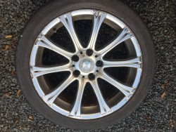 BMW 5 Series M SPORT ALLOYS, MATCHING PAIR, GOOD 245x40x18 TYRES, FOR A SPARE WHEEL OR REPLACEMENT