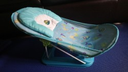 Deluxe Baby Bather -Bath Seat - Blue  for sale