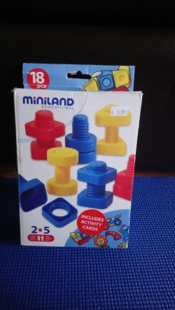 Miniland Nut and Bolt educational game for 2+ yrs