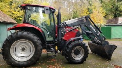 2007 CASE TRACTOR AND QUICKE LOADER WITH BUCKET-LOW HOURS