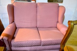 Cottage winged backed  2 seater couch