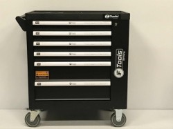 German 6 Drawer Tool Box complete with Tools + Side Cabinet with 1 Shelve + Lockable Door