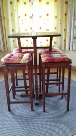 Tall Table and Stool Set