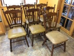 7 Hardwood Dining Chairs