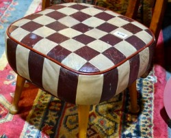 Retro leather stool