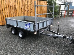 IFOR WILLIAMS 8X5 DROPSIDE TRAILER with Adjustable Ladder Rack