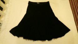 Two office/casual wear black skirts - size 8
