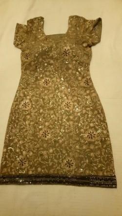 Designer, tailor made glittery dress for UK size 8