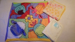Set of three(1 playmat, 2 blankets) from birth