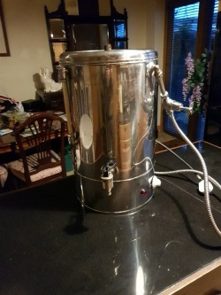 Stainless steel industrial water boiler