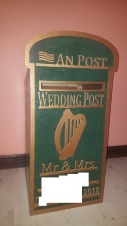 The Wedding Post Box personalised wood hand made