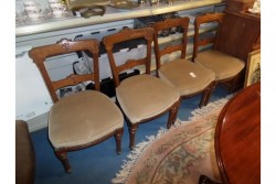4 antique  heavy  oak  dining  chairs