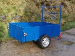 Car trailer all steel 6 x4