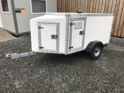 FACTORY BUILT 3 COMPARTMENT DOG TRAILER with Frontal Storage and Fully Lockable.