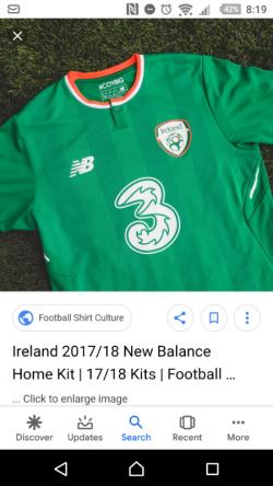 WANTED NEW BALANCE REPUBLIC OF IRELAND FOOTBALL SHIRT
