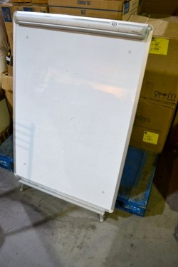 As new white  board  complete with stand