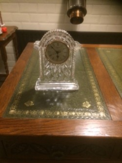 Waterford crystal large carriage clock