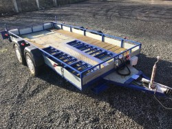4 WHEEL BRAKED CAR TRANSPORTER TRAILER with Taildoor and Ramps