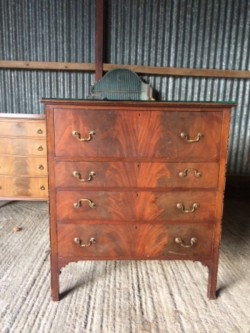 Chest of drawers with writing bureau