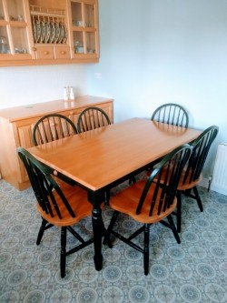 Family, Farmhouse, Country Kitchen Dining table and chairs.
