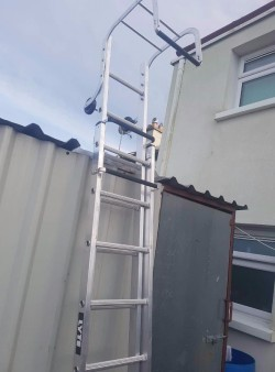 Brand new industrial roof ladder