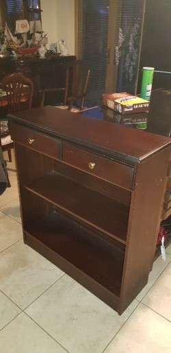 Mahogany  book case complete with 2 drawers