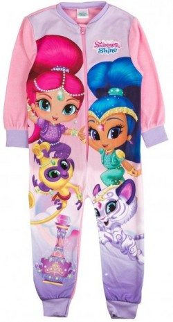 Girls official shimmer and shine fleece onesies
