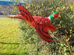 Garden bird wind spinners  whirlygigs