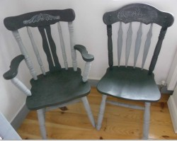 Up-cycled Fireside/Reading Chair €45 & Hall Chair €30