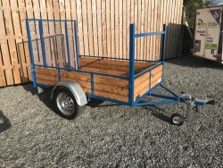 "NEWLY BUILT 7 X 4FT 4"" CAR TRAILER Plated 750kg's with Long Tail door"