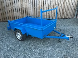 "NEWLY BUILT 7 X 4FT 6"" BUILDERS TRAILER Plated"
