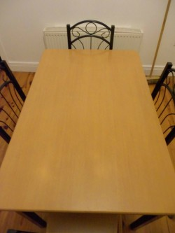 Rectangular Dining Table & 4 Chairs