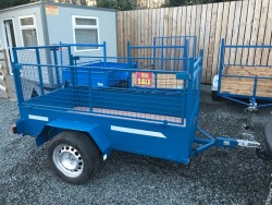 NEWLY BUILT 7X4 HIGH MESH SIDE CAR TRAILER