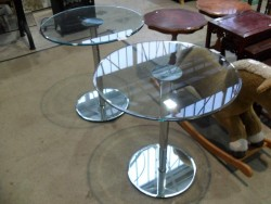 New   heavy solid glass table
