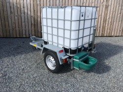 GALVANISED MOBILE WATER DRINKER TRAILER with Automatic Drinker