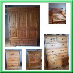 5 Piece Solid Pine Bedroom Furniture