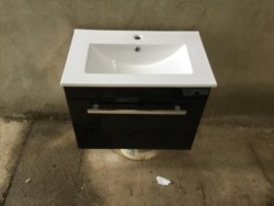 Black gloss Vanity Unit with sink