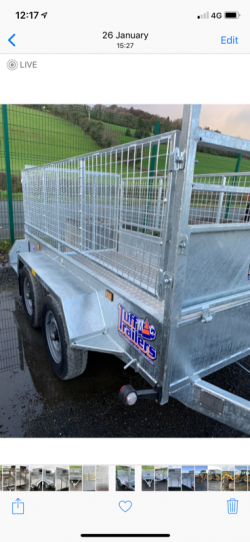 New 8 x 5 trailer with ladder rack