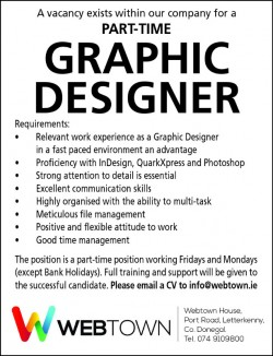 Part-time Graphic Designer Wanted