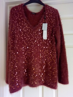 Sequin fluffy jumper by Roman