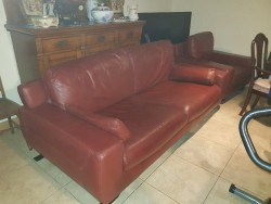 As new large 3 seater Italian  leather  +1 seater
