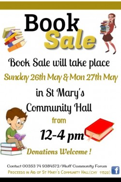 Book Sale in St Mary's Community Hall, Muff