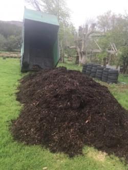 Garden mulch for flower beds