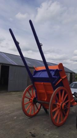 Iron shod horse drawn farm cart