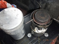 army stove