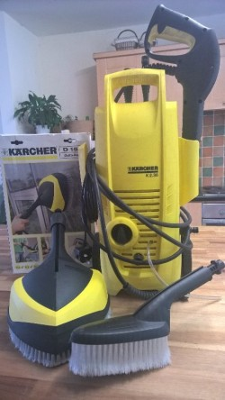 Karcher power washer & brushes